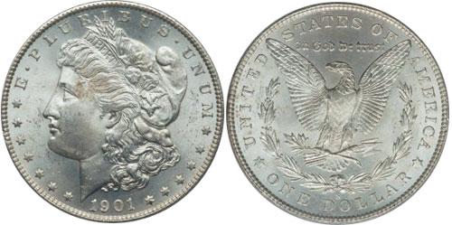 1901 Morgan Dollars